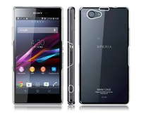 Crystal Clear Slim Hard Cover Case for Sony Xperia Z1 mini M51W Z1 Compact+Screen protector