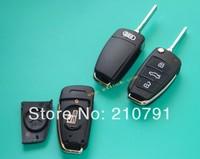 New 3 Buttons Folding Key Remote Case Shell For Audi A2 A3 A4 A6 A6L A8 TT