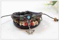 Butterfly Fashion Punk Style Wooden Bead Bracelet Jewelry