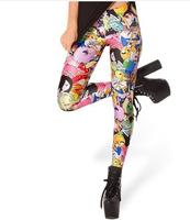 EAST KNITTING Adventure Time Jake Leggings 2014 fashion new women Cartoon Galaxy Pants S M L XL