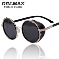 Gimmax vintage sunglasses female star style sunglasses 2014 male personality circle sun glasses