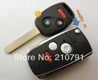 Folding Car Remote Key Flip Shell Case Keyless Fob For HONDA Civic Ridgeline Pilot Fit Odyssey CRV 2 3 Buttons