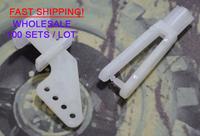 Warehouse - 100 pcs 4 holes and 2 mm Nylon Clip for hobby model servo-Free shipping