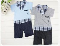 Freeship Baby Boy KID Formal Suit Romper Pants 0-18M One-piece Jumpsuit Clothes set
