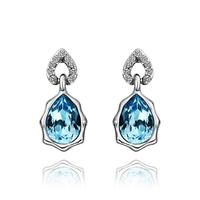 2014 new arrival wholesale free shipping 18KGP E469 18k gold earrings fashion jewelry nickel free nice earrings for women