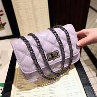 2014 women's handbag mini plaid bag gentlewomen chain bag shoulder bag