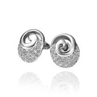 2014 new arrival wholesale free shipping 18KGP E528 18k gold earrings fashion jewelry nickel free nice  earrings for women