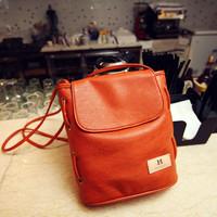 2013 casual solid color bucket bag one shoulder women's handbag