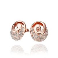2014 new arrival wholesale free shipping 18KGP E529 18k gold earrings fashion jewelry nickel free nice  earrings for women