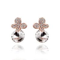 2014 new arrival wholesale free shipping 18KGP E538 18k gold earrings fashion jewelry nickel free nice  earrings for women