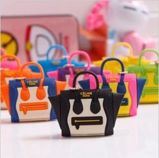 Best selling lovely handbag dustproof plug mini satchel shoulder bag purse dust plug the headphone jack plug 1pcs(China (Mainland))