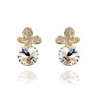 2014 new arrival wholesale free shipping 18KGP E533 18k gold earrings fashion jewelry nickel free nice  earrings for women