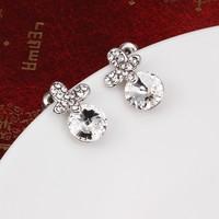 2014 new arrival wholesale free shipping 18KGP E534 18k gold earrings fashion jewelry nickel free nice  earrings for women