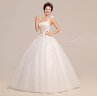 2014 New Style 100% Actual Images Strapless Floor-Length Pearls Backless Lace Wedding Dress Bridal Gown Free Shipping WD009