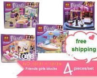 2014 Newest Bela Friends Girls series Building Blocks Sets Emma/Miya/Olivia figures Scene Toys for children