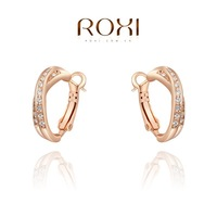 10$ Free Shipping! ROXI Jewelry Gold Plated Classic Cute Crystal Stud Earrings for Women 2020047440