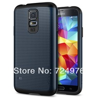 High Quality New PC and Silicone Hard Hybrid SGP SPIGEN Slim Armor case For Samsung Galaxy S5 SV i9600 Free Shipping 200pcs/lot