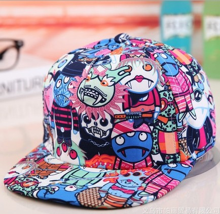 Selling. Three Eyed Monsters graffiti baseball cap. Korean Metrosexual lady duck tongue hat. Leisure sports sunshade. Graffiti(China (Mainland))