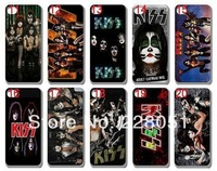 Free shipping 1pcs/lot new skin design kiss band Cell Phone hard case mobile phone case cover for iphone4 4G 4S iphone4 C81