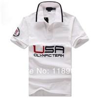 Sochi 2014 New Fashion Polo Shirt Men Brand Big Hourse Logo Short-Sleeve Shirts Mens S ML XL XXL Size Casual Shirts