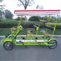 Hot-selling the 4runner sightseeing car single row double steering wheel bicycle
