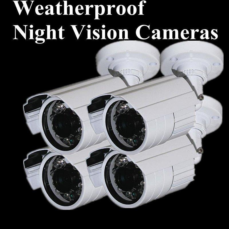 "Free Shipping Security 1/3"" Sony Effio CCD 600TVL outdoor waterproof CCTV camera IR LED 24PCS ,Night Vision IR Distance 20M(China (Mainland))"