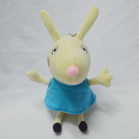 Peppa Pig friend plush Toys Dog Cat Sheep Rabbit Elephant pony/zoe/suzy Dolls Stuffed Toys,19cm,