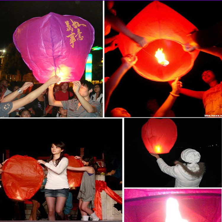 Factory direct / wholesale / lanterns / Lotus lamp / Wishing Lamp Kongming Lantern(China (Mainland))