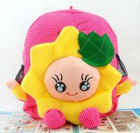 Flower baby cloth cartoon backpack children school bag