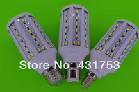 1pcs/lot 20W E27 B22 E14 5730 SMD 71 LED Chip White/warm white LED Energy Saving Corn Light Lamp Bulb 110/220V+Free Shipping