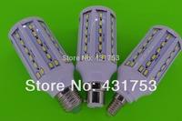 1pcs/lot 20W E27 B22 E14 5730 SMD 71 LED Chip White/warm white LED Energy Saving Corn Light Lamp Bulb 110/220V+Free Shipping