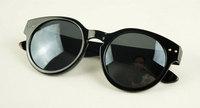 Fashion popular rivet of paragraph sunglasses vintage circle lens sunglasses a457 4  10pcs