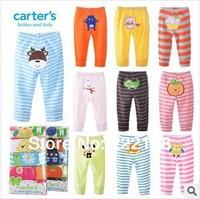 2014 5pcs/lot  USA Carter's 100% cotton baby clothing baby cartoon animal pants free shipping