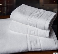 Free shipping, new 2014 three-piece combination bath towel, jacquard beach towels, hotel white towel