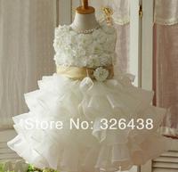 children's dress  girls Flower dress lace TUTU dress girls summer dress(5pcs/lot)