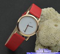 wholesale  2014 Luxury fashion brand leather woman girl quartz wrist gu Brand watch Wristwatches