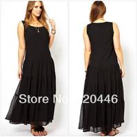 Free Shipping 2014 Summer New Arrvial Fat Ladies' Cute Fashion Apparel Dress Women's  Princess Office Wear  Girls' Plus Size