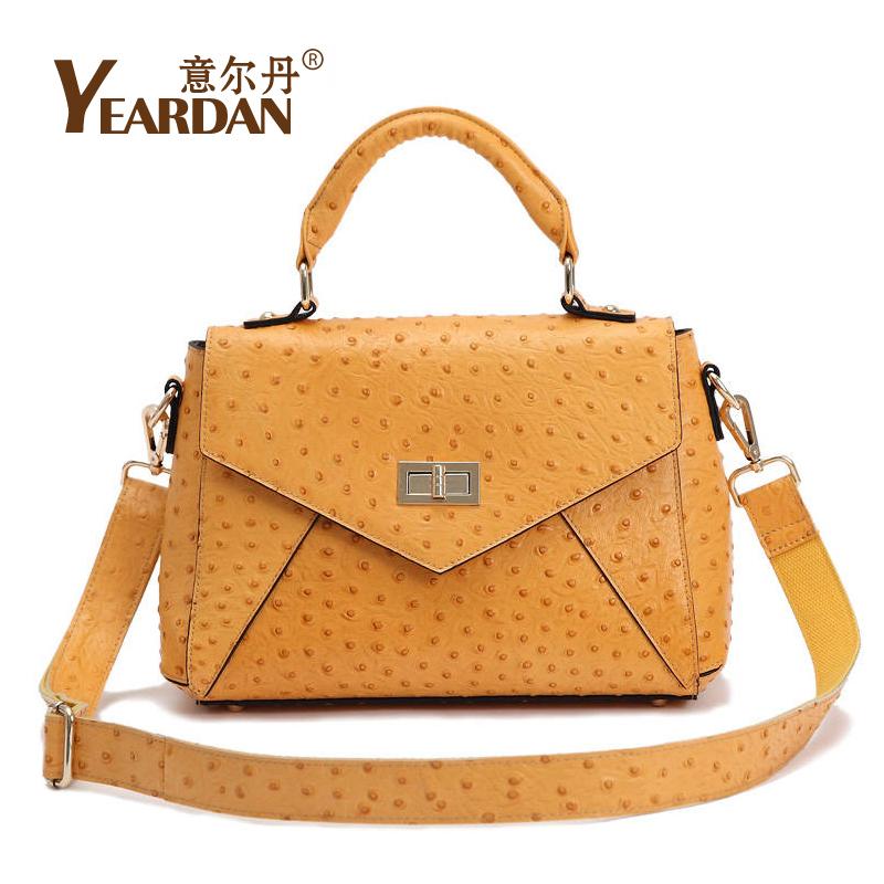 Fashion 2014 women's handbag cross-body shoulder bag ostrich grain leather bag(China (Mainland))