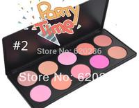 Hot Selling New Professional 10 Colors Makeup Cosmetic Blush Make Up Blusher Powder Palette Set 48sets/lot