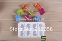 Hot  8pcs/set Cute Letters shape Popsicle box DIY Ice Cream Tool Ice Cube Tray Mold Ice Cream Maker  Ice Cream Tubs(ICM-033)