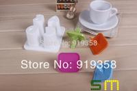Hot  4pcs/set Cute Letters shape Popsicle box DIY Ice Cream Tool Ice Cube Tray Mold Ice Cream Maker  Ice Cream Tubs(ICM-034)