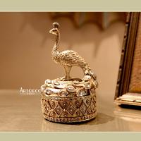 Fashion luxury resin peacock jewelry box decoration luxury decoration