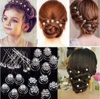 60pcs New Fashion Bridal Hair Twist Ins Hair Pins Flower Pearl Crystal Hair Accessories bridal wedding hair jewelry