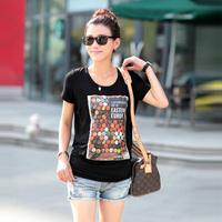 2014 spring short-sleeve T-shirt female women's basic shirt female summer thin slim short-sleeve nla2018