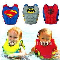 Children's lifejacket buoyancy vest floating sun swimsuit swimwear Boys Batman Superman