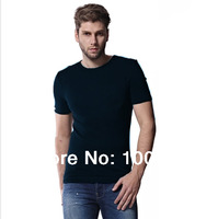 T-shirt ment  Free Shipping Bamboo Fiber Round Neck T-shirts , Eco-friendly Bamboo Fiber Clothing