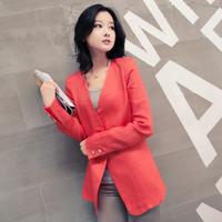 Female blazer outerwear long-sleeve 2014 spring medium-long spring and autumn mmc8801 plus size clothing