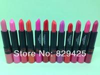 Wholesale Cosmetic Brand Makeup HOT NEW 2 IN 1 LUSTRE LIPSTICK KISSABLE LIPCOLOUR 12 PCS / LOT