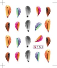 12Pack Snakeskin Colorful Sexy Leaf Pattern Water Decals Transfer Stickers on nails Nail Art Fingernails Decoration