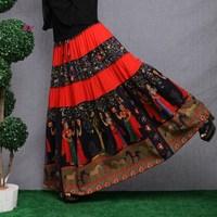 Fluid women's one-piece dress full dress 2014 summer pleated fancy national trend bust two ways suspender